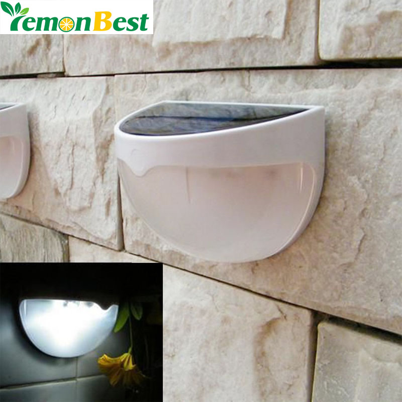 Free Shipping 6 LED Garden Light Solar led Panel Lamp Sensor Waterproof mounted Outdoor Fence Wall Lamp Lighting Cool white(China (Mainland))