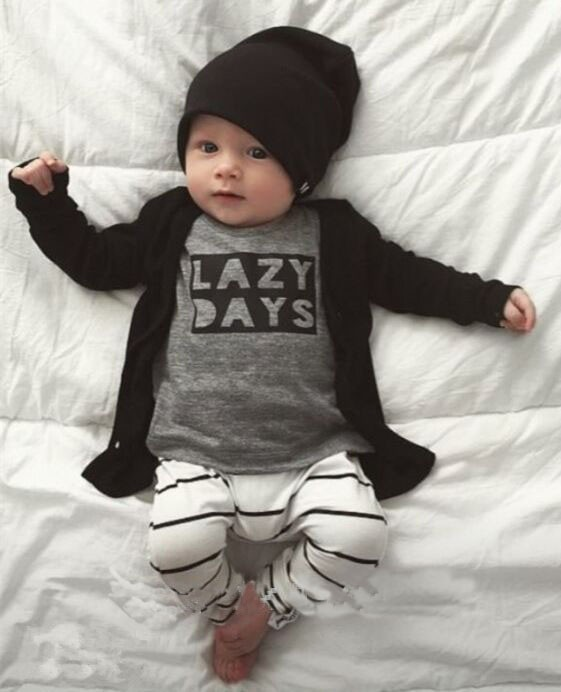 2016 autumn baby boy clothes baby clothing set fashion cotton long-sleeved letter t-shirt+pants newborn baby girl clothing set(China (Mainland))