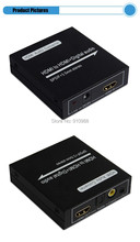 Free shipping  HDMI audio extractor power free HDMI V1.4 support 3D HDMI to 5.1 Spdif digital audio converter