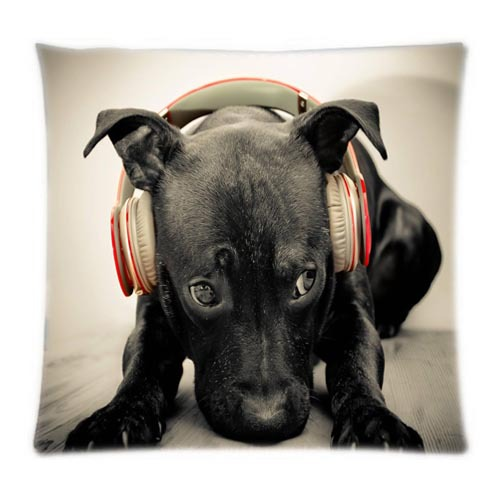 Cool Beats by Dr.Dre Labrador Retriever animals beats black Cushion Cover 16x16 18x18 20x20 24x24 inch Two Side Soft Pillowcase(China (Mainland))
