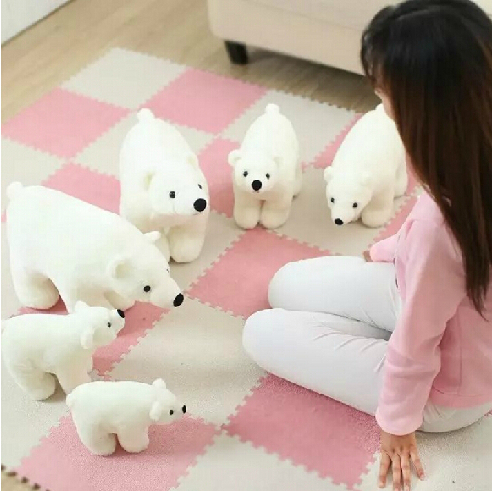 High Quality Kawaii Pure Dream Cute Polar bear Plush Toy Soft White Teddy Bear Stuffed Toys Baby Toy Kids toy Gift(China (Mainland))