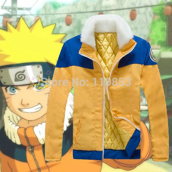 Japanese Anime Naruto Uzumaki Shippuden Thick Fur Collar Coat Jacket Cosplay Costume Plus Size S M L XL XXL D1944E - Sequoia Trading Company (No. 2 store)