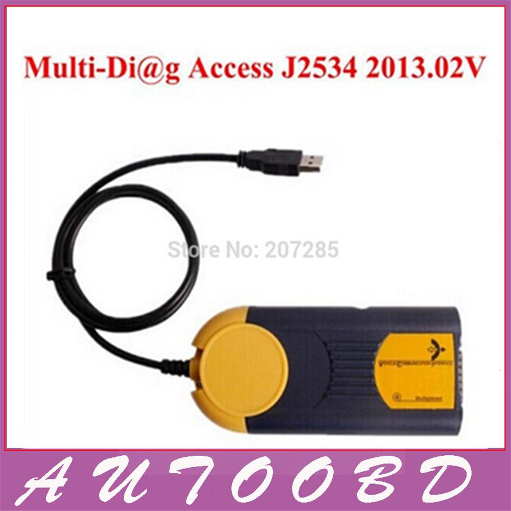 2015 newest multi-language auto actia multi diag obd2 interface multi-diag j2534 multidiag v2013.02 free DHL<br><br>Aliexpress