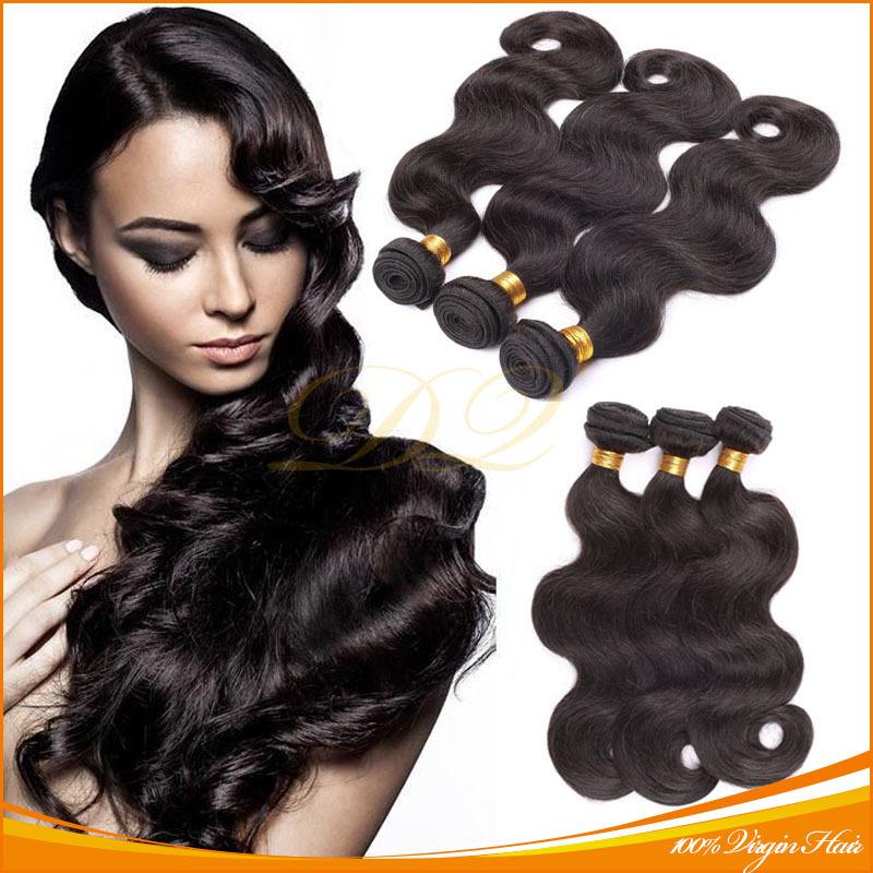 7A Unprocessed Brazilian Body Wave Virgin Hair Guangzhou Mocha Hair Products Queen Weave Beauty Company Brazillian Human Hair(China (Mainland))