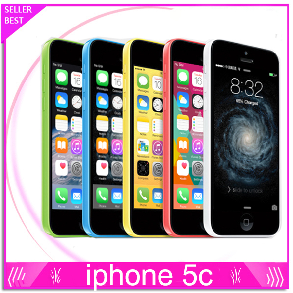 Factory Unlocked Original iPhone 5C GSM IOS 16GB/32GB storage Dual Core 4.0 inch Screen GPS WIFI Used Cell Phones Free shipping(China (Mainland))