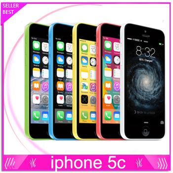 Iphone 5C, разблокированный GSM IOS 16 гб / 32 гб ёмкость двухъядерный 4,0 7-дюймовый экран GPS wi-fi бывшее в использовании сотовых телефонов