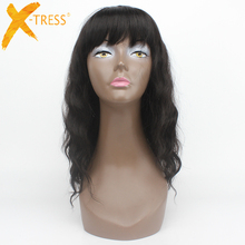 Hot #2 Super Wave Long Wig 100% Kanekalon Heat Resistant Synthetic Wigs For Black Women 6A Machine Made None Lace Wigs With Bang(China (Mainland))