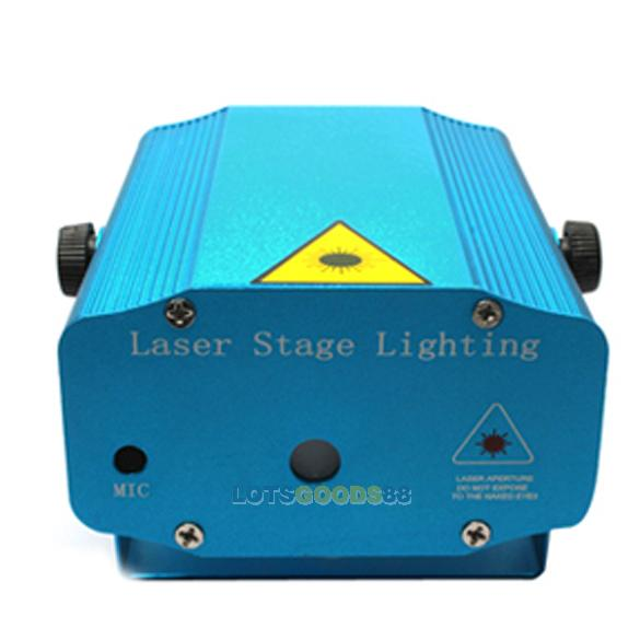 Mini 6 Image Strobe Light DJ Disco Blue Projector Party Laser Stage Light<br><br>Aliexpress