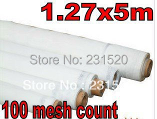 Screen printing supplies Screen mesh count 100 mesh count size 1.27x5m(China (Mainland))