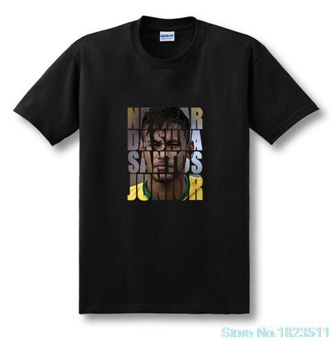 New Fashion Neymar da Silva Santos Junior T-Shirt neymar jr brazil T Shirt Sport Tshirt Soccer Football Short Sleeve Top Tees(China (Mainland))