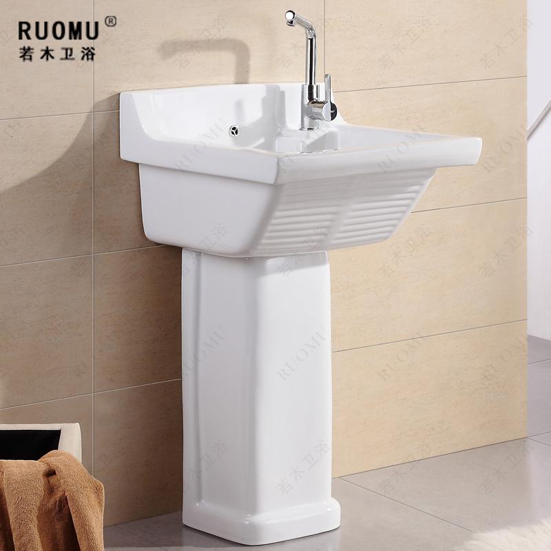 Pedestal lavabo ba o sink cuenca ba o sin grifos en for Lavabo para bano precio
