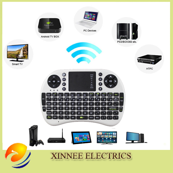 Rii mini i8 Russian Keyboard English Air Mouse Hebrew keyboard MultiMedia Remote Control Touchpad Handheld for smart box Mini PC(China (Mainland))