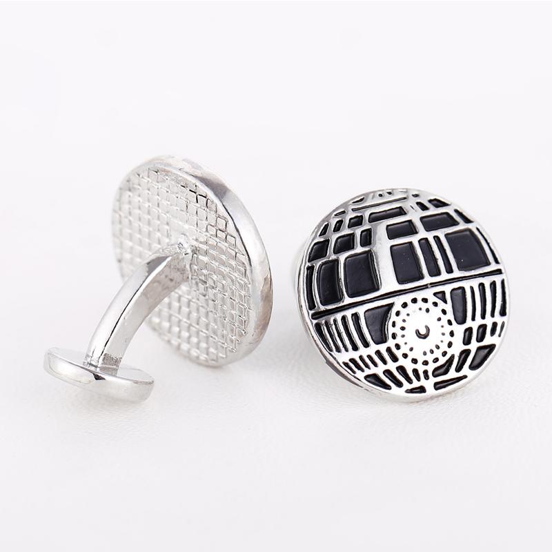 MJ Star Wars Cufflinks Shirt Brand Cuff Buttons Silver Plated Cuff Links Jewelry Mens Gifts(China (Mainland))