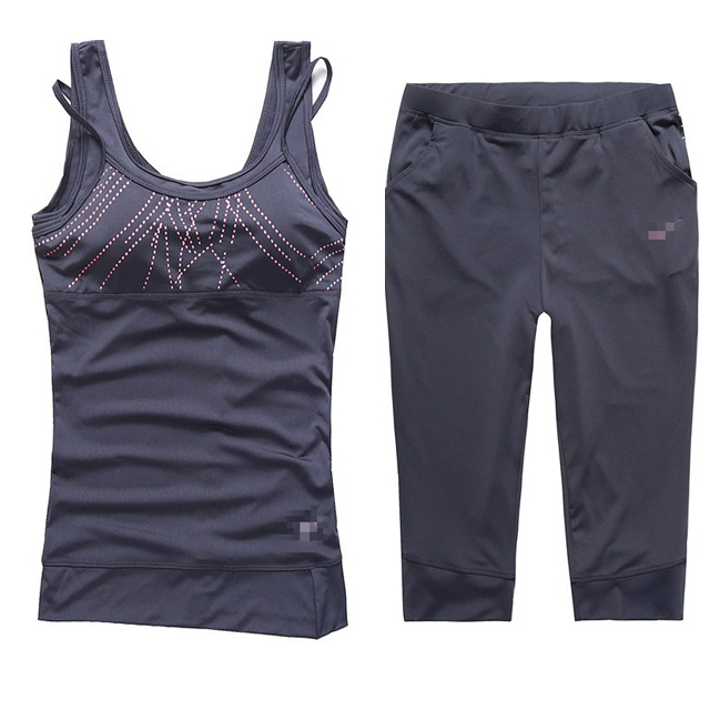 Women Sport Costumes Clothing Sportswear yoga Set ,sports suit running fitness sports yoga clothes set badminton for women(China (Mainland))