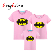 Hughina Modern Spider Pattern Family Look Summer t shirt Mon Dad and Son Daugther Clothes 2017 matching family hero shirts 1639(China (Mainland))