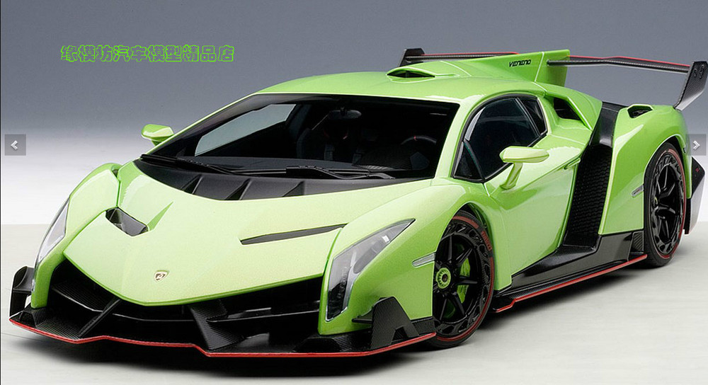 Die edge Fang AUTOART 1:18 VENENO green metal poison(China (Mainland))