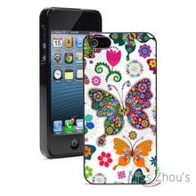Butterfly Flower Floral Protector back skins mobile cellphone cases for iphone 4/4s 5/5s 5c SE 6/6s plus ipod touch 4/5/6