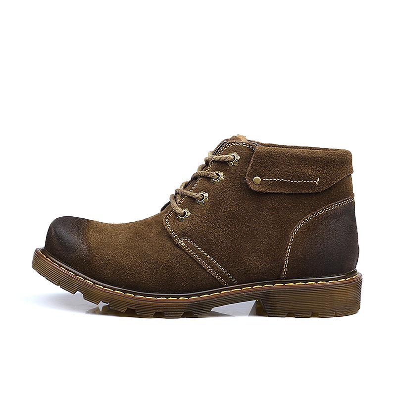 mens winter boots 2015 best quality genuine leather casual