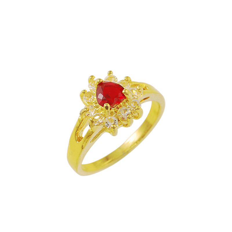 free shipping exo 24k gold plated wedding rings red crastal prices in euros bijoux women yhdr030 - Wedding Ring Prices