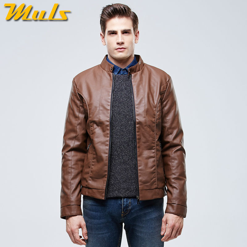 Collection Brown Faux Leather Jacket Mens Pictures - Reikian