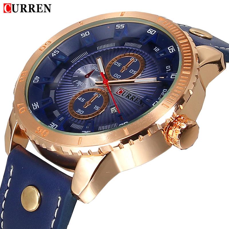 2016 CURREN business watch watch men military Casual Mens Watches Top Brand Luxury quartz-watch Wristwatches relogio masculino(China (Mainland))