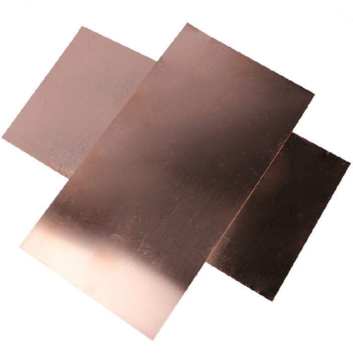 100*100*4mm 99.9 purity DIY material Copper bar plate block copper strip electrolytic sheet(China (Mainland))