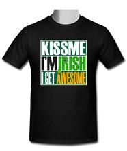 Buy Summer Fashion Casual T-Shirt Kiss Irish got awesome St Patrick's T-Shirt Size S-2XL for $12.99 in AliExpress store