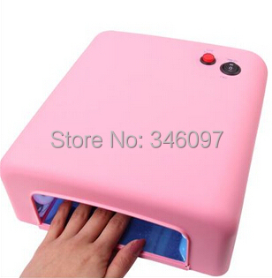 Pink UV Gel Nail Art Lamp Dryer Manicure Light Shellac Curing Timer 36W/ 220V - HOTSTORE2015 store