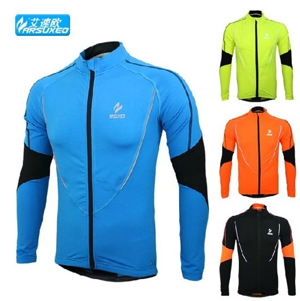 winter warm up Fleeces skins running Fitness Excercise cycling bike bicycle sports running Clothing jacket shirt long wear(China (Mainland))