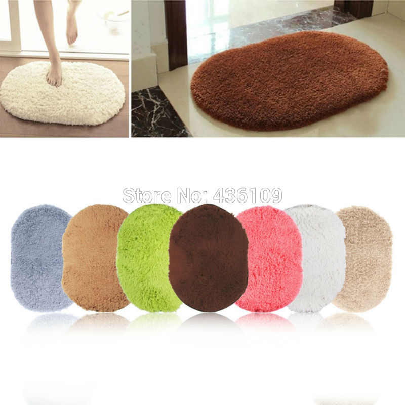 Fashion Design Hot Sale New 360 Rotatable of Super Magic Slip-Resistant Pad Room Oval Carpet Floor mats 40*60CM Free Shipping(China (Mainland))