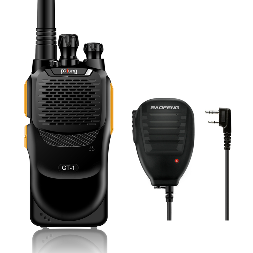 Baofeng GT-1 UHF 400-470MHz 5W 16CH FM Function Two-way Ham Hand-held Radio Transceiver Mightier Than BF-888s with Microphone(China (Mainland))