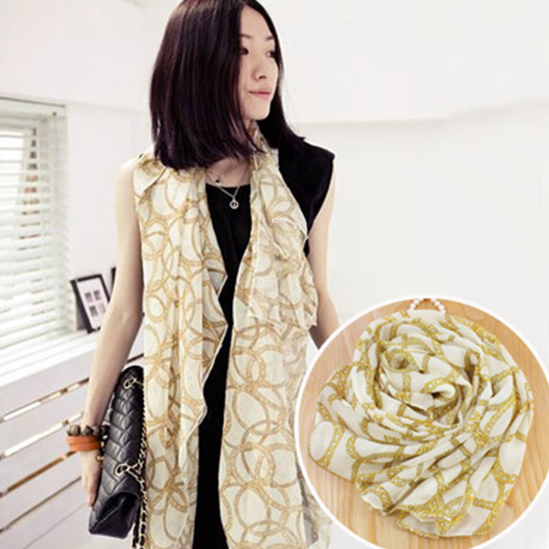 New Spring women chiffon scarf female neck warmer summer beach big shawls echarpe femme scarves 160*40cm(China (Mainland))