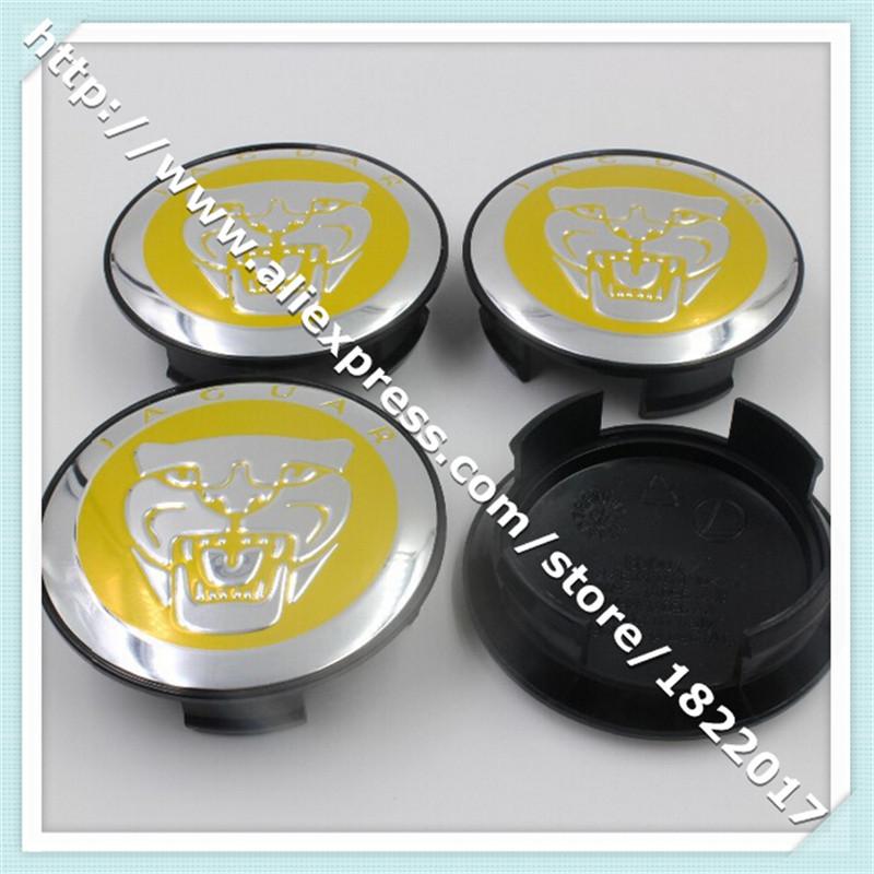 Hot selling DHL 1000pcs 58mm black blue yellow JAGUAR XJ XF XK X TYPE logo car