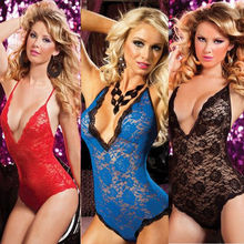 Plus Size Sexy Lace Underwear Babydoll Women Intimate Lingerie Chemise Free Shipping