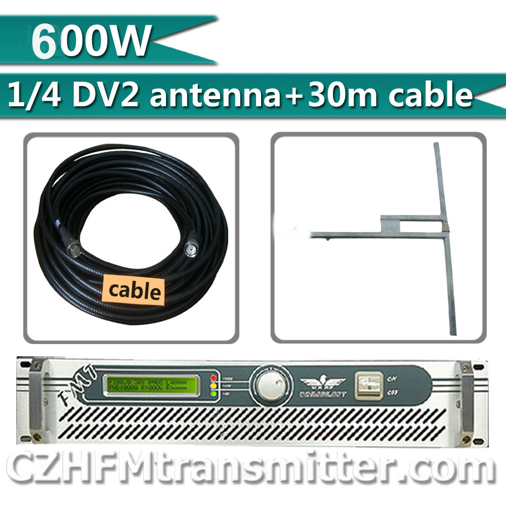 FSN 500w 600w Professional Broadcasting Radio FM Transmitter + 1/2 dipole DV2 antenna+ 30 meters cable with connectors(China (Mainland))