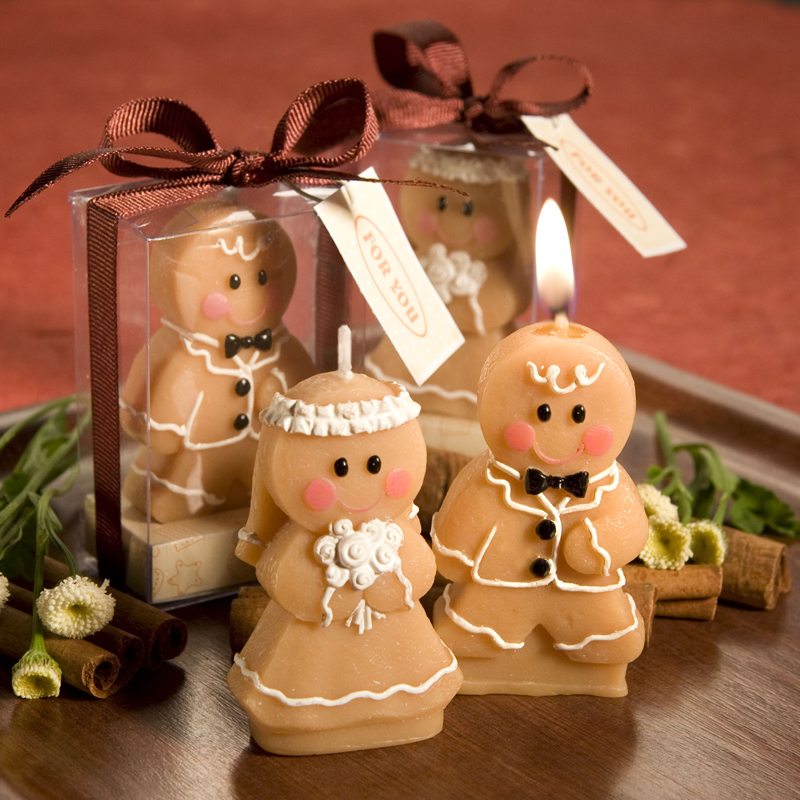 2015 Free Shipping High-quality Smokeless with Flavor Birthday creative Souvenir baby gift Gingerbread Man candle small gifts(China (Mainland))