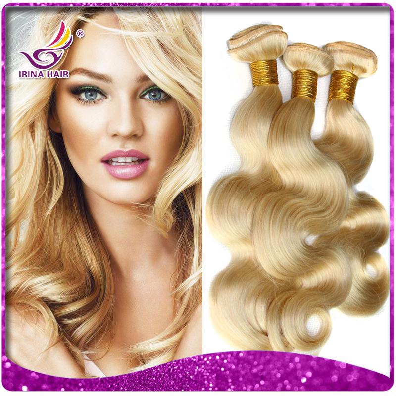 IRINA weave beauty hair 7A POP brazilian blonde virgin hair body wave brazilian human 613 hair weave bundles 2/3/4pcs lot cabelo(China (Mainland))