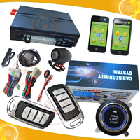 Top Quality GSM car alarm with GPS tracking,moble start remote start push button start modes hopping code protection