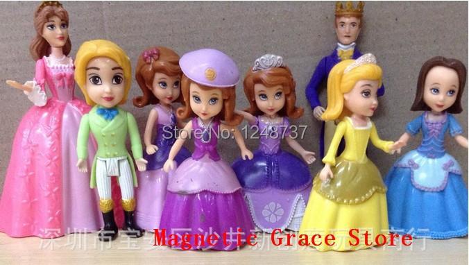 Здесь можно купить  wholesale  for 10 set Sofia PVC toys figure, children toys figure,  classic toys for girls  Игрушки и Хобби