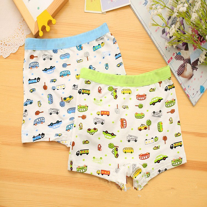 4pcs/lot new car pattern baby child cotton underwear kids cartoon panties boys boxer briefs for 3-7Y b1TNM0032(China (Mainland))