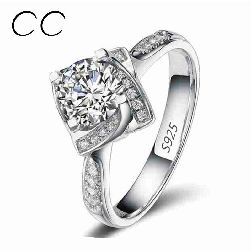 Square Shape Flower Rose Design Wedding Engagement Rings for Women Zirconia Diamond Jewelry Ring Bijoux Femme Wholesale CC095(China (Mainland))
