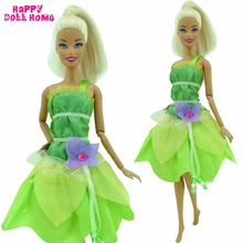Buy Cute Dress Princess Outfit Green Fairy Tale Clothing Flower Beads Clothes Barbie FR Kurhn Doll Dollhouse Kid Toys Gift for $3.99 in AliExpress store