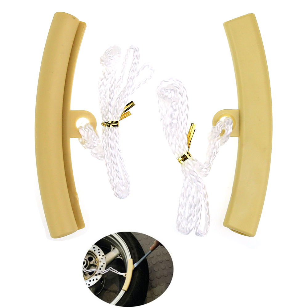 2 PCS Motorcycle Tire Tool Protectors Wheel Changing RIM Savers Beige Color(China (Mainland))