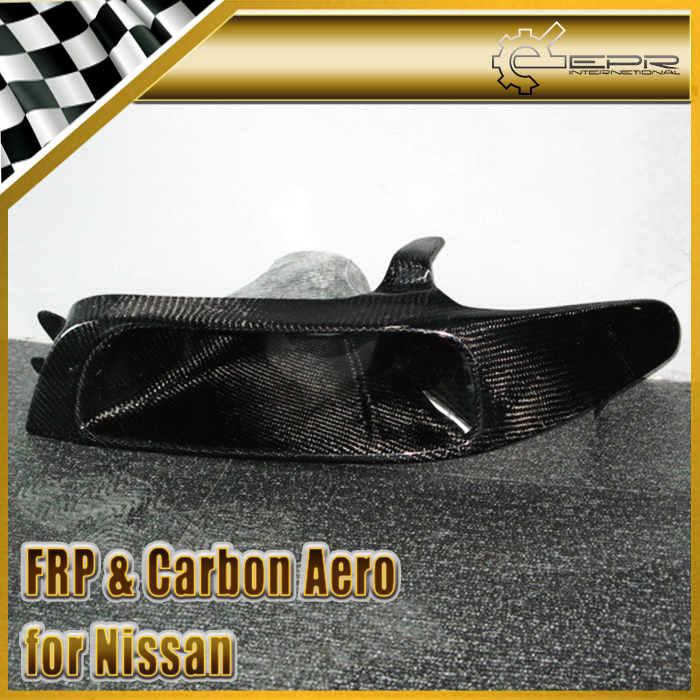 New Headlight Cold Air Intake Vents Duct Replacement For Nissan Skyline R33 GTR GTST Carbon Fiber Car Accessories Car Styling(China (Mainland))