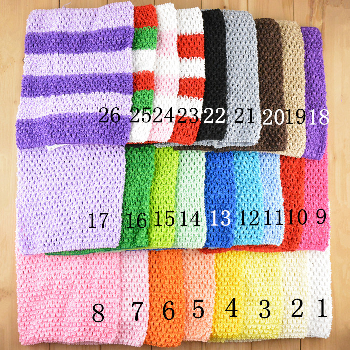 New Arrival 20cm X 23cm Baby Girl 9Inch Crochet Tutu Tube Tops Chest Wrap Wide Crochet headbands Free Shipping 10pcs/lot #H018Одежда и ак�е��уары<br><br><br>Aliexpress