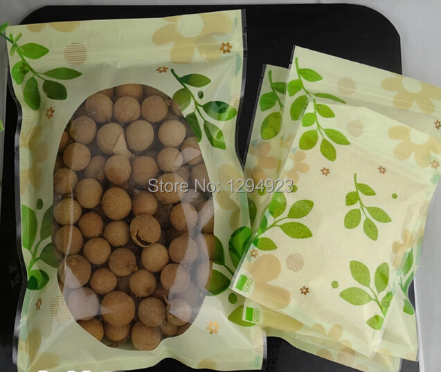 Plastic window packaging bag,plastic bags zipper for food Size 14*20CM free shipping(China (Mainland))