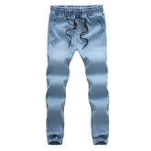 Haren pants Popular Casual hot new 2016 comfortable Straight jean for men summer Spring Solid color Elastic Large size ENOL