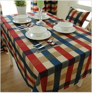 Hot Sale 2015 new 90cm*90cm Mediterranean Rural amorous restaurant cotton and linen tablecloth table cloth Cover Kitchen Home(China (Mainland))