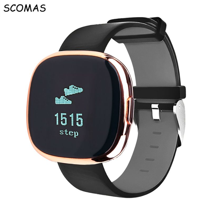 SCOMAS P2 Smart Wristband IP67 waterproof heart rate monitor Smartband Step counter Bluetooth Intelligent bracelet phone
