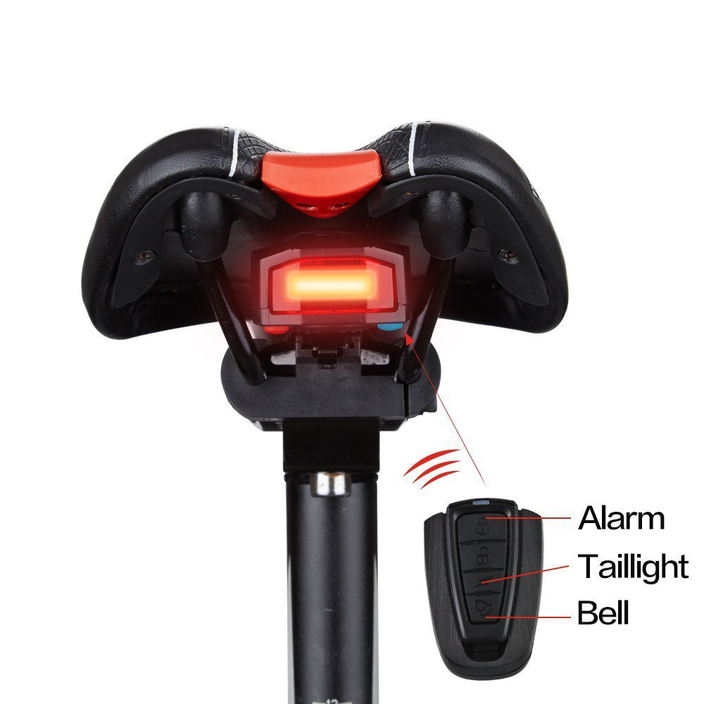 Led Cycling Strobe Warning Electric Bell With Wireless Remote Bike